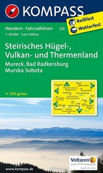 Kompass Karte Steirisches Hügel-, Vulkan- und Thermenland