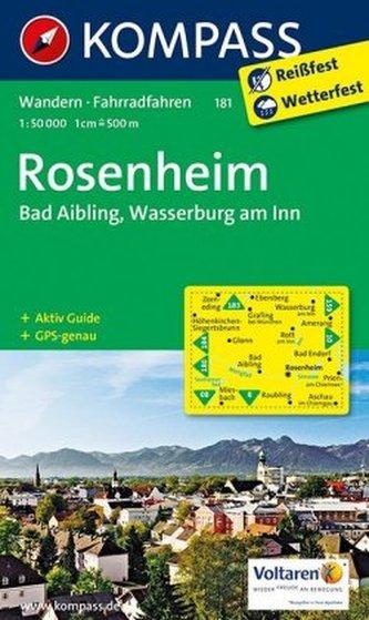Kompass Karte Rosenheim, Bad Aibling, Wasserburg am Inn