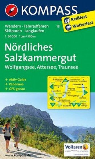 Kompass Karte Nördliches Salzkammergut, Wolfgangsee, Attersee, Traunsee