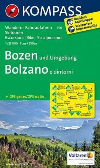 Kompass Karte Bozen und Umgebung. Bolzano e dintorni