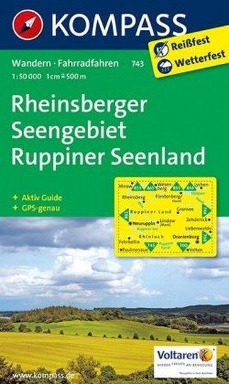 Kompass Karte Rheinsberger Seengebiet, Ruppiner Land