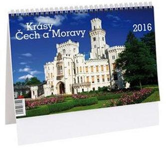 Krásy Čech a Moravy - stolní kalendář 2016