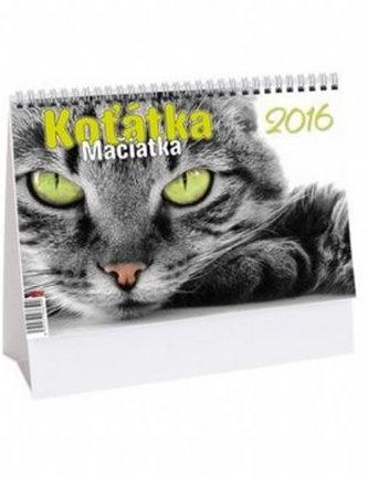 Koťátka - stolní kalendář 2016