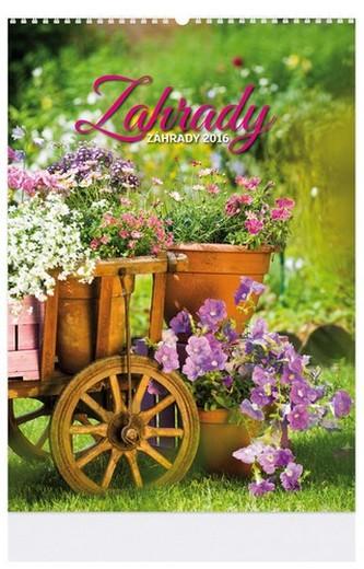 Zahrady - nástenný kalendář 2016