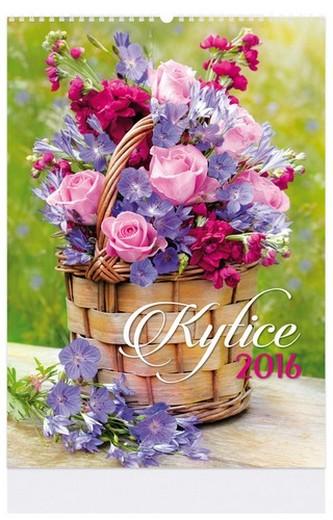 Kytice - nástenný kalendář 2016