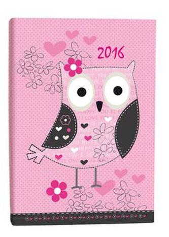 Diář B6 Owl denní 2016