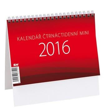Mini čtrnáctidenní kalendář - stolní kalendář 2016