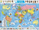 Puzzle MAXI - Mapa SVĚT/107 dílků