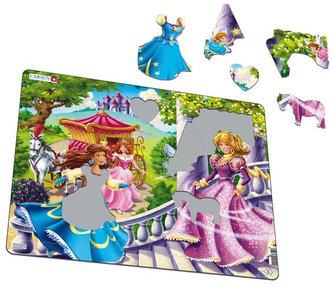 Puzzle MAXI - 3 princezny+2 létající/24 dílků