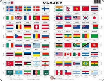 Puzzle MAXI - Vlajky světa/80 dílků