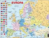 Puzzle MAXI - Mapa Evropy (na šířku)/70dílků