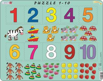Puzzle MAXI - Počítání pro nejmenší s čísly/10 dílků - neuveden