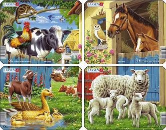 Puzzle MINI - Zvířátka - statek/7 dílků (4 druhy)