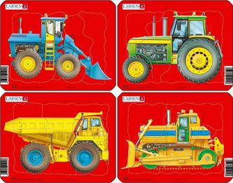 Puzzle MINI - Pracovní stroje/10 dílků (4 druhy) - neuveden