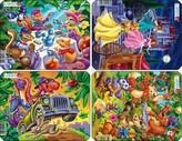 Puzzle MINI - MIX-princezna,kapela,dino,party/6 dílků (4 druhy)