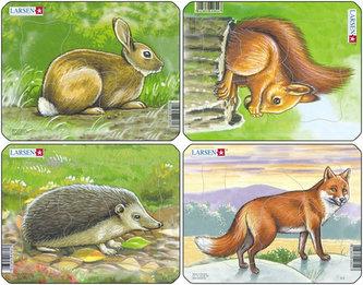 Puzzle MINI - Lesní zvěř/5 dílků (4 druhy)