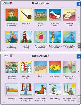 Učební puzzle MIDI - Angličtina-krátký text RA7/10 dílků(2 druhy)