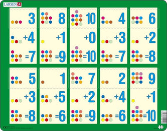 Puzzle MAXI - Sčítání do 10 I. /10 dílků