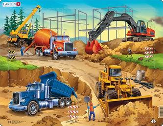 Puzzle MAXI - Na stavbě/30 dílků