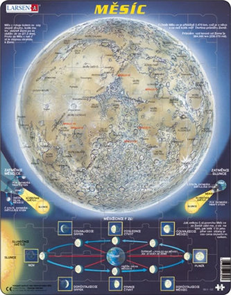 Puzzle MAXI - Měsíc - mapa/70 dílků