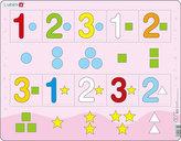 Puzzle MAXI - Čísla 1-3 s grafickými znaky/10 dílků