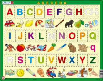 Puzzle MAXI - ABECEDA s obrázky/27 dílků