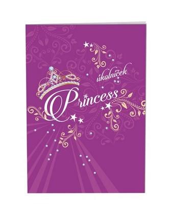 Školní úkolníček A6 - Princess