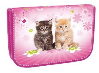 Školní penál jednopatrový - Cats
