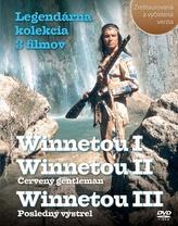 Balíček 3 ks DVD, Winnetou I, II, III Legendárna kolekcia 3 filmov
