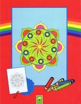 Mandala - maľovánky - červená
