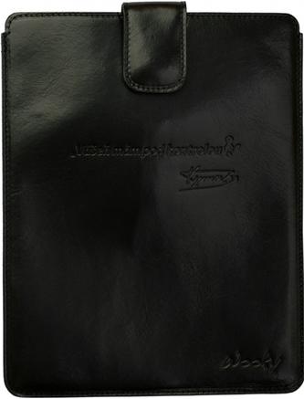 Puzdro 25x20 Verner čierna koža s prackou iPad2/3