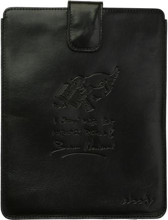 Puzdro 25x20 Nesvadová čierna koža s prackou iPad2/3