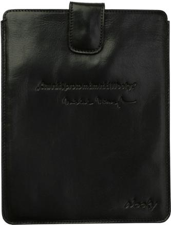 Puzdro 25x20 Viewegh čierna koža s prackou iPad2/3