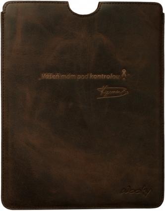 Puzdro 19,5x25 Verner hnedá koža natur iPad2/3