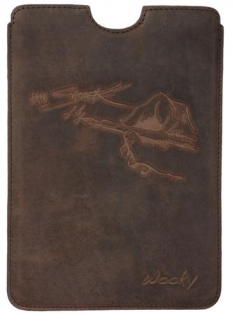 Puzdro 19,5x25 Saudek hnedá koža natur iPad2/3