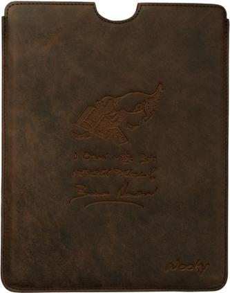 Puzdro 19,5x25 Nesvadbová hnedá koža natur iPad2/3