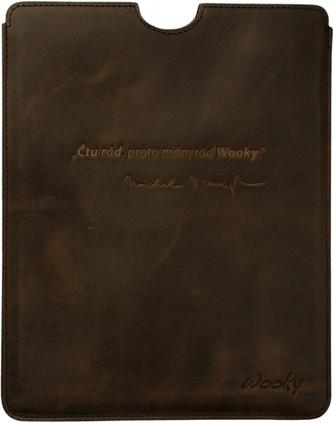 Puzdro 19,5x25 Viewegh hnedá koža natur iPad2/3