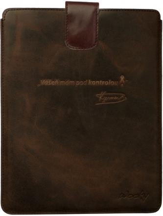Puzdro 25x20 Verner hnedá koža s prackou iPad2/3