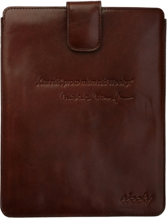 Puzdro 25x20 Viewegh hnedá koža s prackou iPad2/3