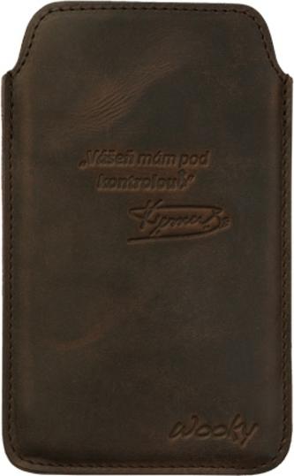 Puzdro 9,5x16 Verner hnedá koža natur Samsung Galaxy Note