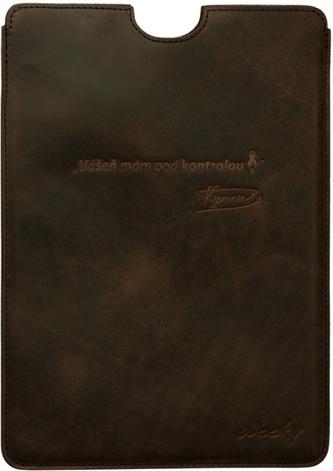 Puzdro 19x26,5 Verner hnedá koža natur Samsung Galaxy Tab 10.1