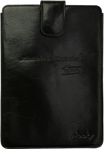 Puzdro 17x24 Verner čierna koža s prackou Samsung Galaxy Tab 8.9