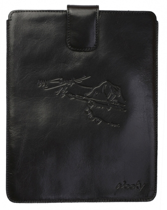 Puzdro 17x24 Saudek čierna koža s prackou Samsung Galaxy Tab 8.9