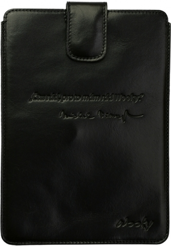 Puzdro 17x24 Viewegh čierna koža s prackou Samsung Galaxy Tab 8.9