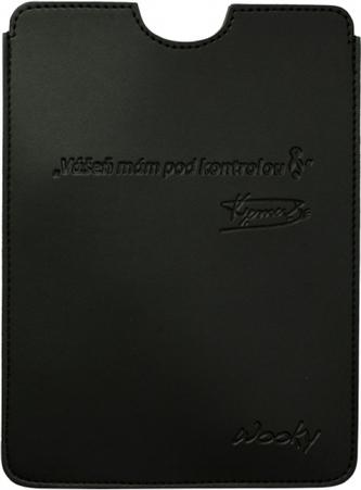 Puzdro 17x24 Verner čierna umelá koža Wooky tablet 2.0
