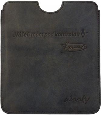 Puzdro 16,8x14,7 Verner hnedá koža natur eWooky