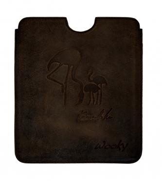 Puzdro 16,8x14,7 Heribanová hnedá koža natur eWooky
