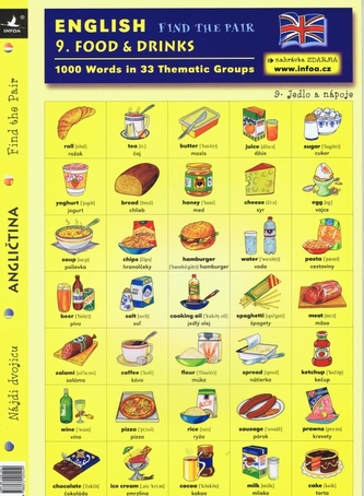 English - Find the Pair 09. (Food & Drinks)