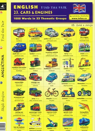 English - Find the Pair 23. (Cars & Engines)