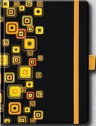 Poznámkový blok PB BIG s gumičkou - zlatý